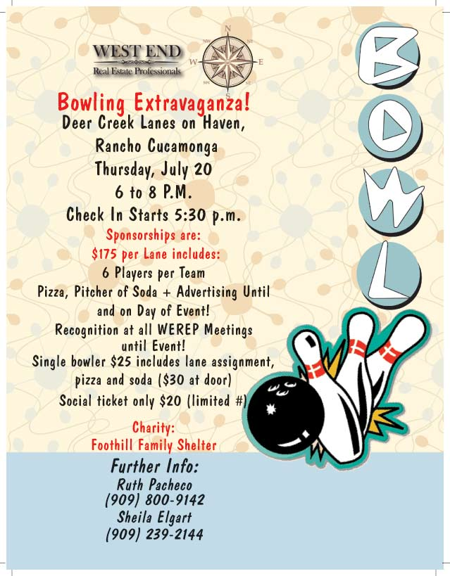 Lanes Roofing WEREP Bowling Extravaganza! July 20, 2017